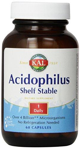 (KAL Acidophilus 4 Billion Micro Organism Room Temperature Stable Capsules, 60 Count)