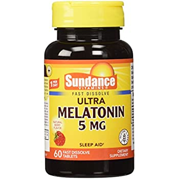 Sundance 5 Mg Melatonin Tablets, 60 Count