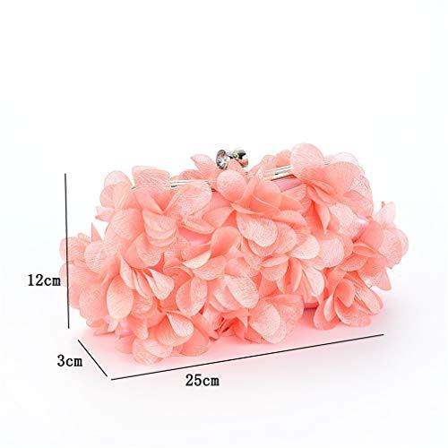 Shoulder Bag Evening Wedding Diamond Solid Silk Elegant Women Color White Clutch Bags Bride Lady Flower Handbag HwOFqFxn6