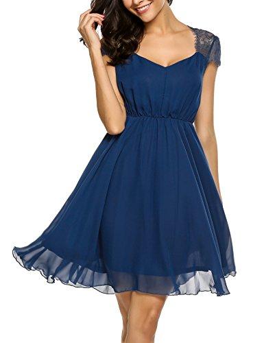 Kleid a linie kurz blau
