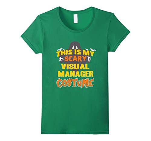 Scary Halloween Customes (Womens This Is My Scary Visual Manager Custome Job TShirt XL Kelly Green)