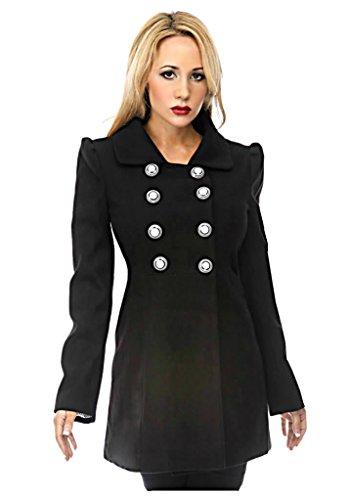Voodoo-Vixen-Retro-50s-Vintage-Rockabilly-Double-Breasted-Coat-Jacket-S