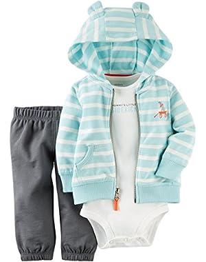 Carters Baby Boys 3-pc. Sidekick Cardigan Set 24 Month Light blue
