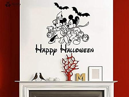 nkfrjz Feliz Halloween Tatuajes de Pared de Mickey Minnie ...