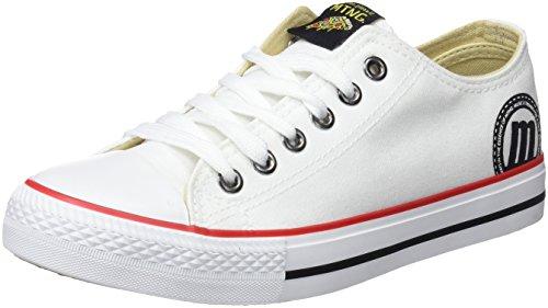 MTNG emi, Zapatillas de Deporte para Mujer Blanco (Canvas Blanco)