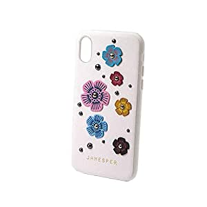 iphoneX JANESPER FLOWER BACK COVER WHITE