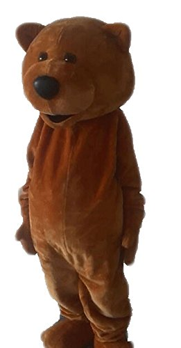 Funny Adult Size Teddy Bear Mascot Costume for Party Mascota Animal Mascots Brown Bear Cosplay -