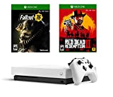 Xbox One X Limited White Fallout 76 Red Dead Bonus Bundle: Limited Edition White Xbox One X, 4K Ultra HD Enhanced Open World Fallout 76 and Red Dead Redemption 2
