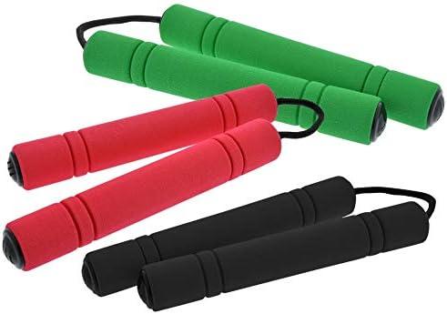 Flu Kids Home Ninja Toy Nunchucks NunChaku Foam /& Plastic Red New