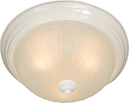 Maxim Lighting 5832FTWT Three Light Frosted Glass Bowl Flush Mount, White - Glass Bowl Chandelier