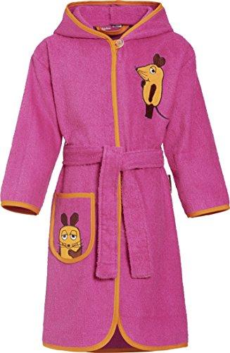 Playshoes Mädchen Bademantel Frottee DIE MAUS, Gr. 122 (Herstellergröße: 122/128), Rosa (pink 18)