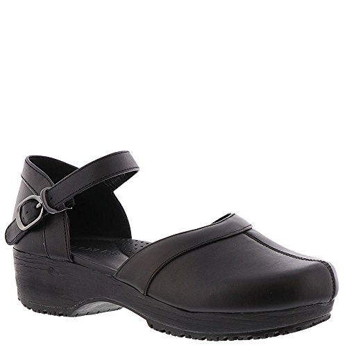 Skechers Work Clog SR-Puako Women's Slip On 10 B(M) US Black (Womens Ankle Clog Casual Strap)
