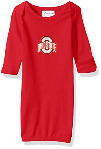 Onesie Cotton Ohio (Two Feet Ahead NCAA Ohio State Buckeyes Children Unisex Layette Gown,One Size,Red)