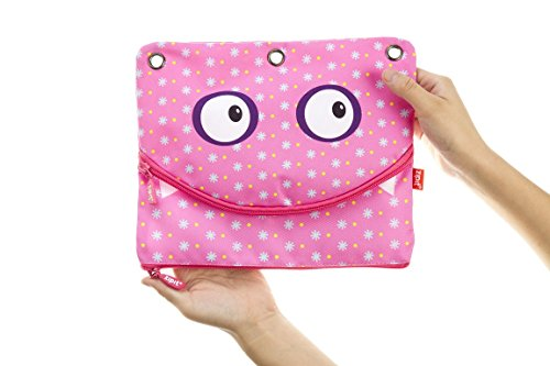 ZIPIT Googly 3 Ring Pencil Case, - 3 Ring Binders For Kids