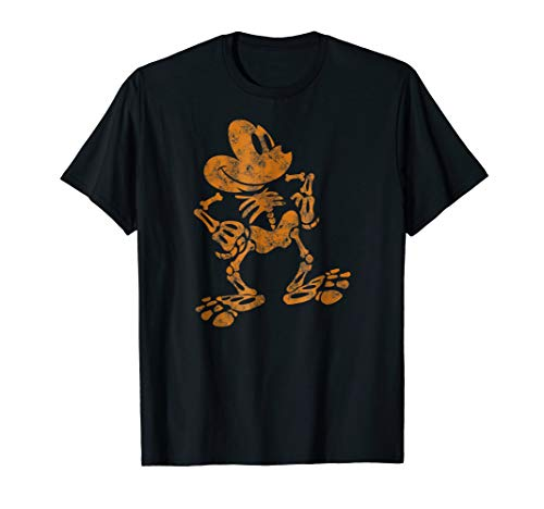 Disney Mickey Mouse Halloween Skeleton T Shirt