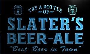 pn1924-b Slater's Best Beer Ale in Town Bar Pub Neon Light Sign