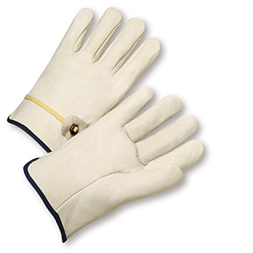 (West Chester 990T/XL XL White Select Grain Cowhide Drivers Gloves)