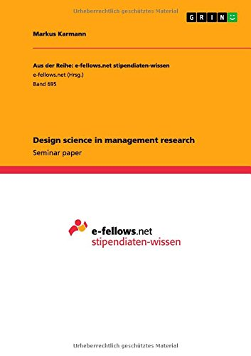 Read Online Design science in management research pdf