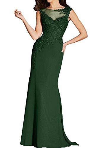 Ballkleider Abendkleider Tuell Spitze Damen Lang Elegant Promkleid Dunkelblau Ivydressing xq0vw7Fp
