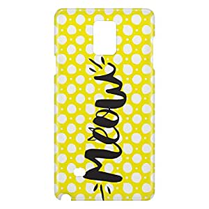 Loud Universe Samsung Galaxy Note 4 3D Wrap Around Meow Print Cover - Multi Color