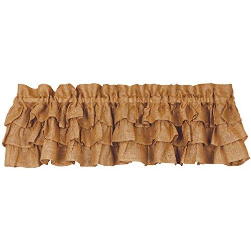 Triple Ruffle Burlap Country Valance (Ruffled Burlap Curtains)