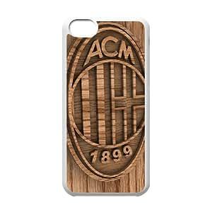 Ac Milan 2 funda iPod Touch 6 caso funda Q5V8XWCKKG blanco