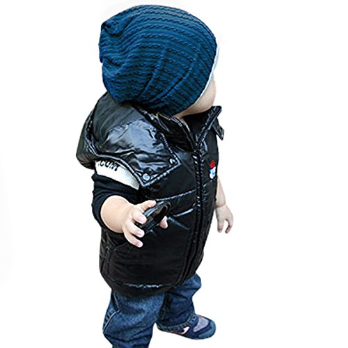 GOYESTORE Fashion Cute boy girl Trendy Baby Toddler child Hat Knit Beanie Warm Winter cap FBA (Navy Blue)
