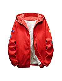 SWPS Men's Warm Coats, Male Autumn Winter Thickened Warm Jacket Zipper Hoodie Outwear Coat Top Blouse