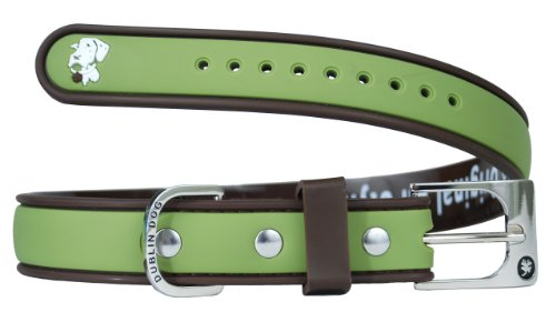 Dublin Dog Waterproof Dog Collar, Small 9 inches - 14 inches, Olive Brown