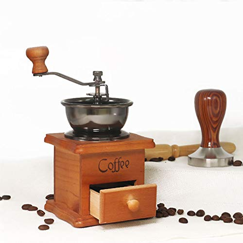 Behandy Manual Coffee Grinder Vintage Coffee Grinder Portable Hand Crank Coffeemaker Hand Grinder Grinder Machine for…