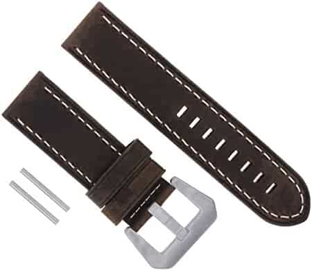 d71c287ee 24MM Cow Leather Watch Band Strap for PANERAI LUMINOR RADIOMIR D/Brown WS  #17
