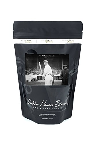 Jim Thorpe, NY Giants, Baseball - Vintage Photograph (8oz Whole Bean Small Batch Artisan Coffee - Bold & Strong Medium Dark Roast w/ (Giants Photograph)