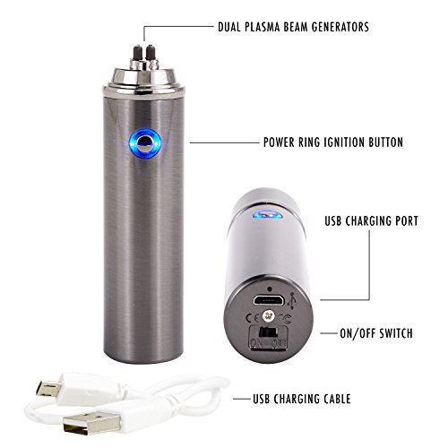 Saberlight Sparq Rechargeable Splash and Wind Proof Flameless Butane Free Revolutionary Plasma Beam Lighter - vapecentral.us
