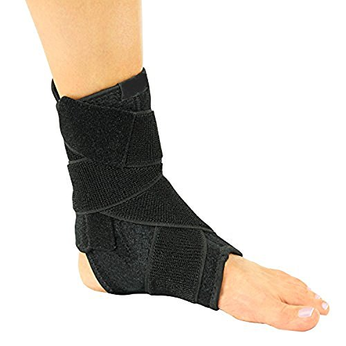 Dr. Wilson(TM) Ankle Support Brace - Made from Neoprene Breathable Top Quality Material - Ideal for Sprained Ankle, Exercise, Running, Pain Relief - with Extra Strong Straps by Dr. WilsonTM