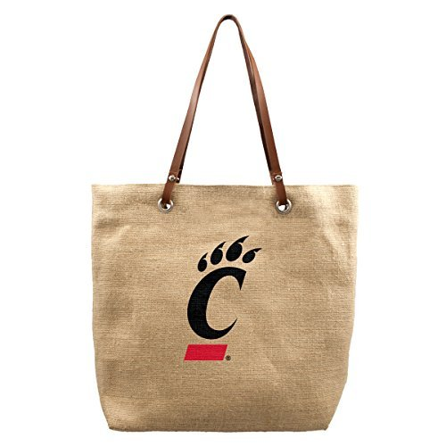 NCAA Cincinnati Bearcats Burlap Market Tote, 17 x 4.5 x 14-Inch, Natural by Littlearth