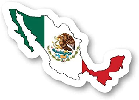 Mexico Country Outlines With Flag stickers Window Truck Car Vinyl ...