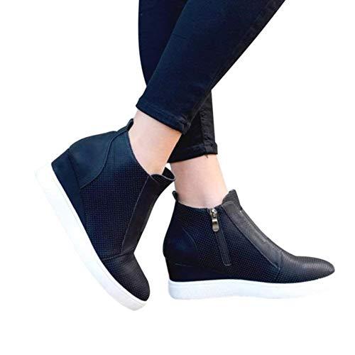 Con Zeppa Donna Stivaletto Comode Ankle Stivaletti Boots 43 35 Bassi Piatto Inverno Chelsea Nero Rosa 5cm Stivali Tacco Scarpe Grigio E05nnxgS