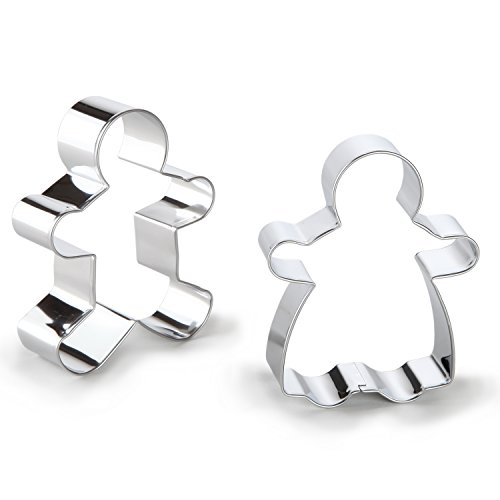 Bakerpan Stainless Steel Cookie Cutter Gingerbread Boy & Girl Set (Ginger Bread Boys compare prices)