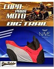 Capa para moto Big Trail cor vermelho