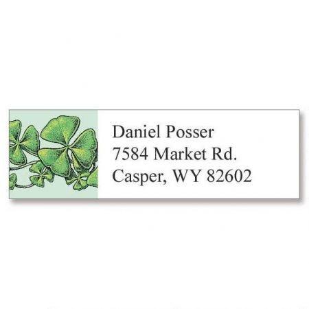 - Personalized Shamrocks Small St. Patrick's Day Address Labels - Set of 240 Self-Adhesive, Flat-Sheet Irish labels