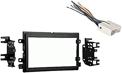 Amazon.com: Compatible with Ford F 250 350 450 550 2005 2006 2007 Double  DIN Stereo Harness Radio Dash Kit: Car Electronics