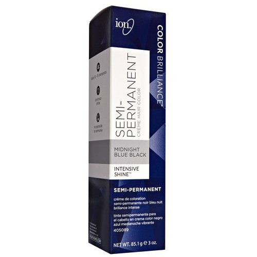 Ion Semi-Permanent Hair Color-3oz (Midnight Blue Black)