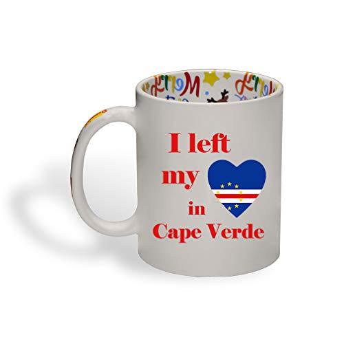 I Left My Heart in Cape Verde Ceramic Christmas Coffee Mug Xmas Tea Cup 11 Oz