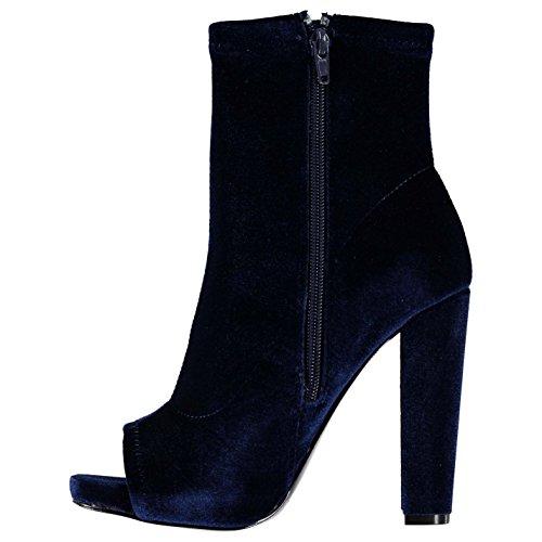 Steve Madden Mujer Especial Botas Zapatos Calzado Casual Tobillo Invierno Terciopelo Azul Marino 38