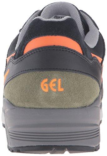 Asics Mens Gel-lique Fashion Sneaker Nero / Arancione