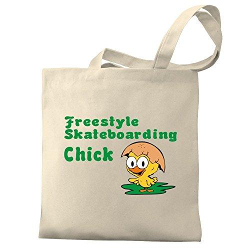 Freestyle chick Canvas Eddany Eddany Skateboarding Tote Bag Freestyle SwITqf
