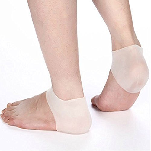 Silicone Gel Heel Protector - Plantar Fasciitis Soft Socks for Hard, Cracked, Dry Skin- One Pair- Moisturizing Protector by - Gel Silicone Heel
