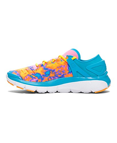 889362249131 - Kids Under Armour Speedform Fortis Atom Grade School, Bold Aqua/Pink, 3.5 Big Kid M carousel main 1