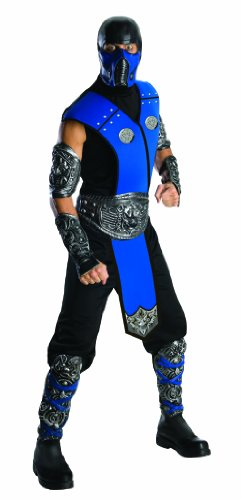 [Mortal Kombat Sub Zero Adult Costume, Blue, One Size] (Ryu Costume)