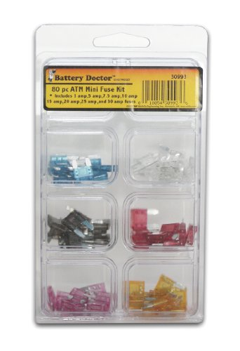 WirthCo 30993 Battery Doctor ATM Mini-Fuse Kit - 80 Piece (80 Piece Fuse)